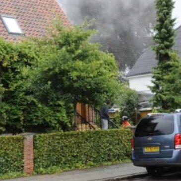 Lyn slog ned i Kolding: Kontor ødelagt af brand